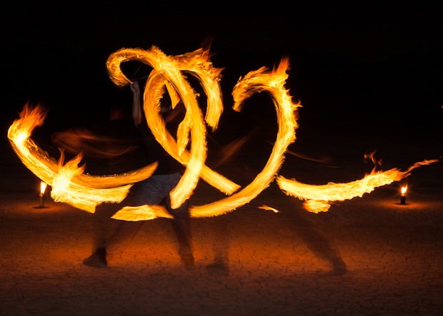 Live Performances | Fire Dancing Out on a Dry Lake Bed – Topher